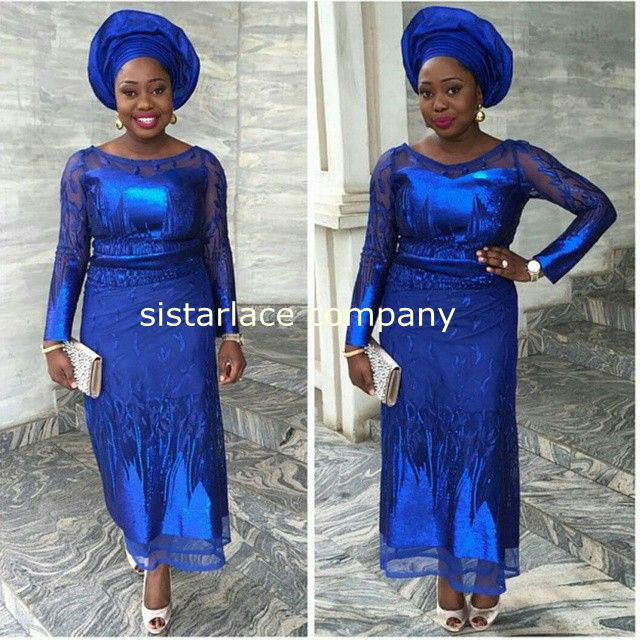 African guipure lace dress