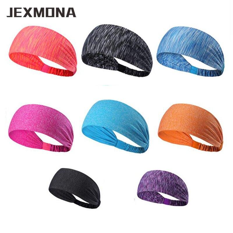 1 pcs unisex sports headbands High grade polyster Yoga Sweatbands Elastic badminton Running Headwrap bandeau sport cheveux