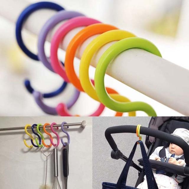 6 Stkspartij Kleurrijke Haken Voor Kinderwagen Multi Purpose Vorm