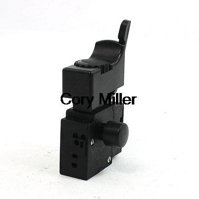 Lock Button Speed Control Trigger Switch AC 250V 6A for Electric Drill fa2 6 1bek spst lock on power tool trigger button switch black