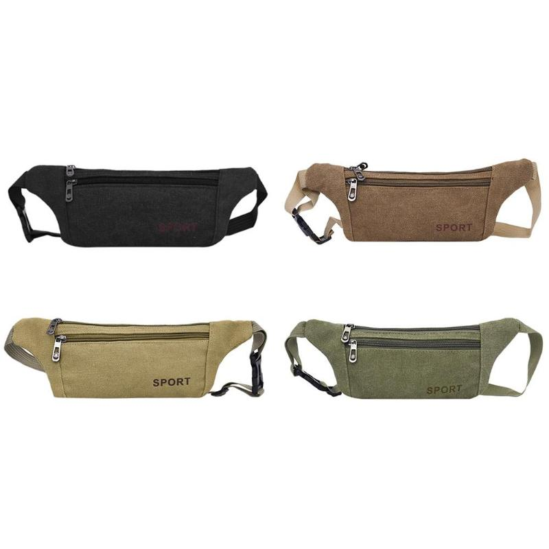 Dedicated Waist Bag Women Men Fashion Neutral Outdoor Zipper Sport Canvas Messenger Chest Bag Bolsa Cintura Belt Bag For Running Fine Jewelry