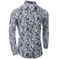 Fashion Personalized Camouflage Prints Mens Dress Shirts Long sleeve Slim Fit Casual Social Camisas Masculinas Man Chemise homme
