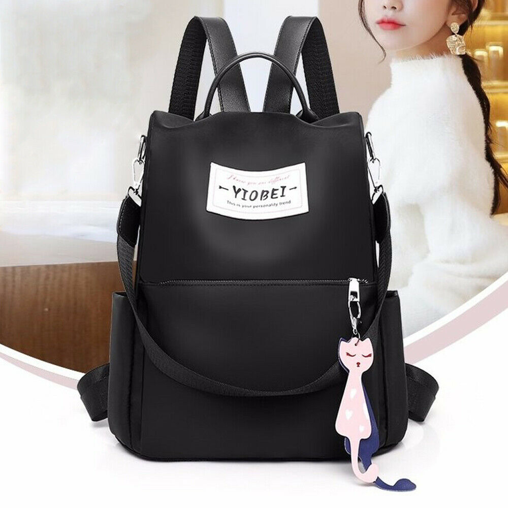 Fashion Backpack Women Travel Oxford Cloth Solid Color College Wind Pleak Shoulder Bag