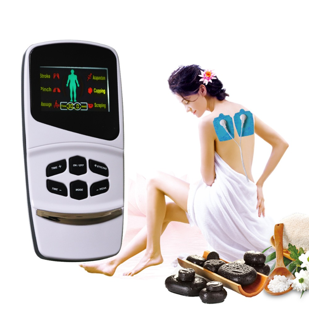 1set Multi-function Intelligent Voice Electronic Massager Relieve Fatigue Body Pain Relief Muscle Stimulator Therapy Instrument