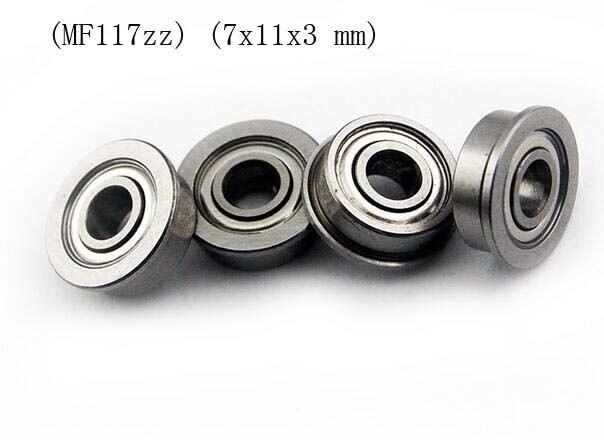7x11x3 mm 10 PCS MF117zz Flange Metal Double Shielded Ball Bearing MF117z