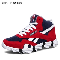 Hot Sale 2017 Winter Sneakers For Men Outdoor Non Slip Plush Warm Running Shoes Cushion Cushion