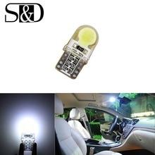 T10 COB SMD W5W HA CONDOTTO LA Lampadina 501 dash lampada Bianca ha condotto le lampadine auto Luci interne Auto Sorgente Luminosa parcheggio D020