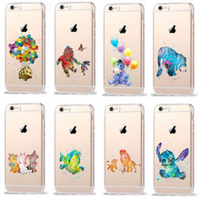 Phone Cases For Coque iPhone 7 8 6 6S Plus X SE 5 5S Cartoon Winnie The Pooh Lion King  Silicone TPU Transparent Cover Case