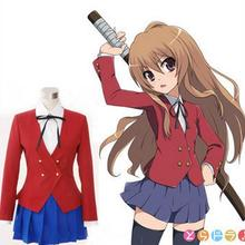 Adult TIGER DRAGON Aisaka Taiga Toradora Gal Uniform Cosplay Costume
