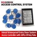 10 Chaves RFID Entrada Da Porta Bloqueio do Sistema de Controle de Acesso controle de acesso do teclado à prova d' água