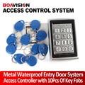 10 Teclas teclado de control de acceso RFID Puerta de Entrada del Sistema de Control de Acceso de la Cerradura a prueba de agua