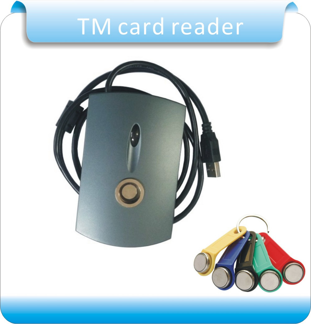 все цены на Free shipping USB port TM card reader  Plug and play can read all the TM card  + 2pcs TM1990A-F5 card