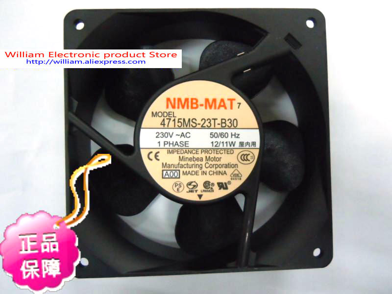 New Original NMB 4715MS-23T-B30 120*38MM AC230V 12/11W silent cooling fan nmb new and original fba09a12m 9025 9cm 12v 0 2a chassis silent cooling fan 90 90 25mm