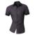 Linhas de Ornamentação Geométrica dos homens 2017 Moda Verão Ocasional de Manga Curta Slim Fit Masculino Camisa cores Misturadas Z003