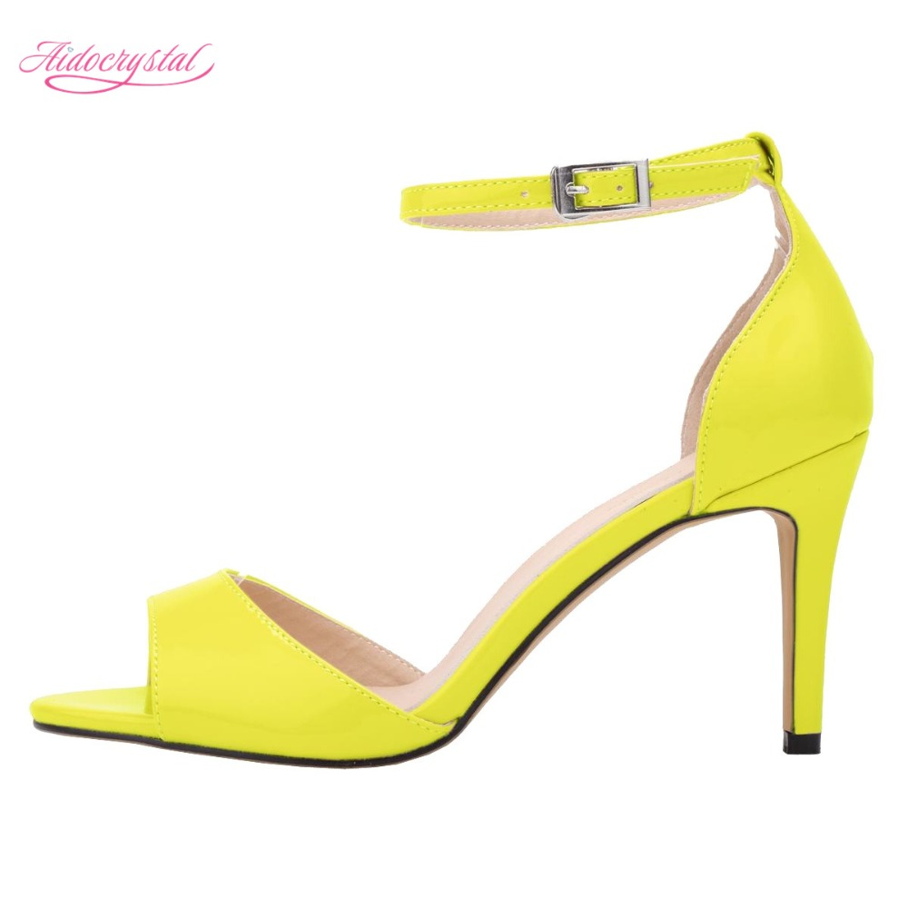 Yellow Mid Heels Shoes Promotion-Shop for Promotional Yellow Mid ...
