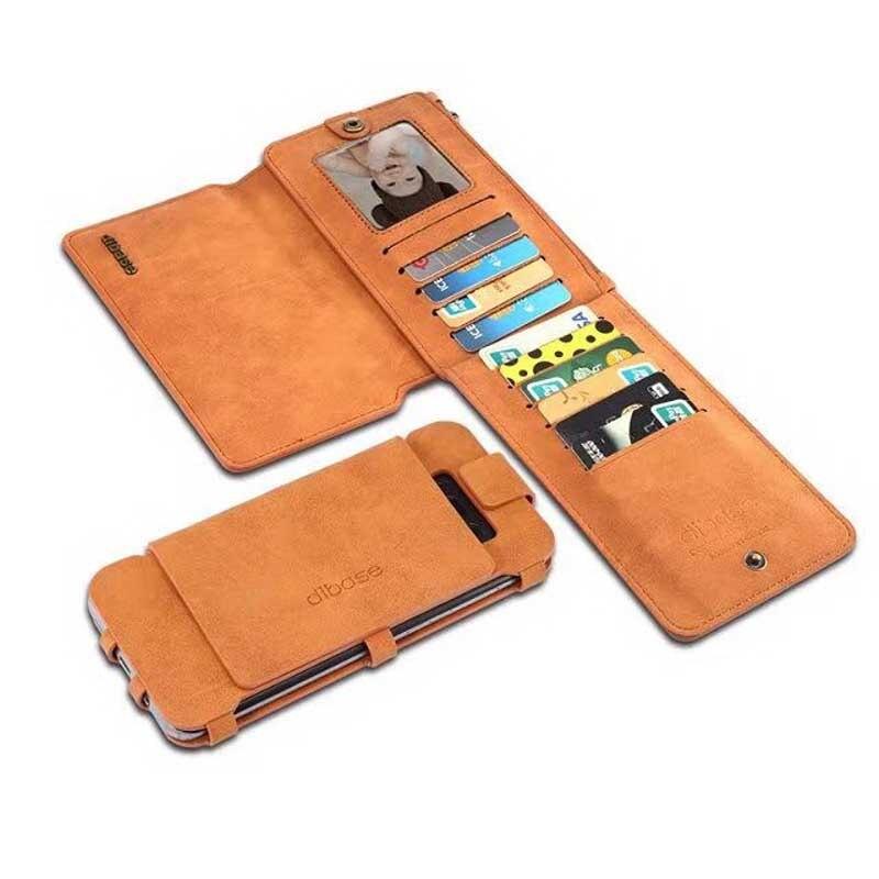 Кожа на молнии кожаные Наручные сумка для Samsung Galaxy Note 8 Съемная 2in1 металлический зажим Разделение кожаный бумажник чехол