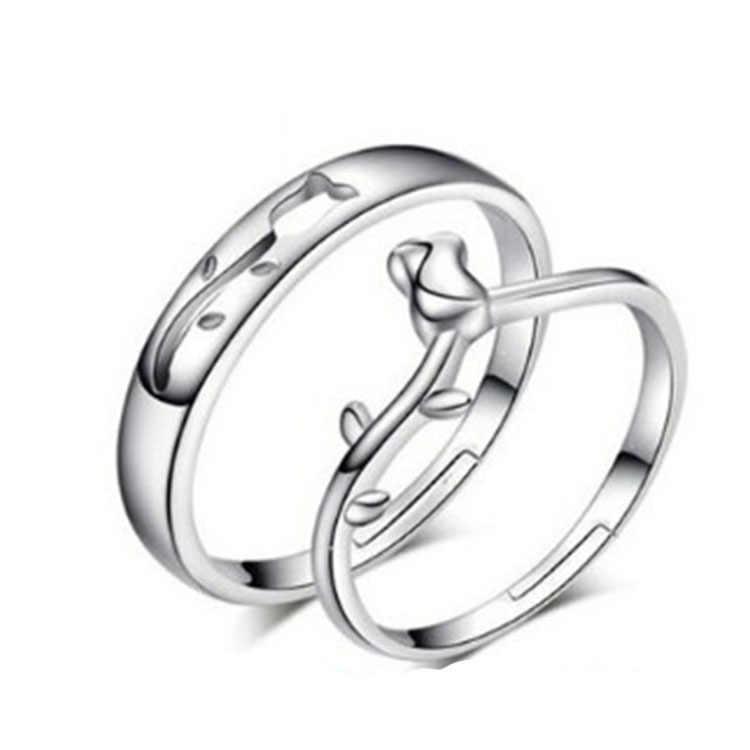 ZRHUA Chất Lượng Cao Original 925 Sterling Silver Nhẫn Bạc cho Nam Giới Phụ Nữ Hàng Ngày Ngón Tay Anel Phụ Kiện Sterling Silver-Bạc-Đồ Trang Sức anillo