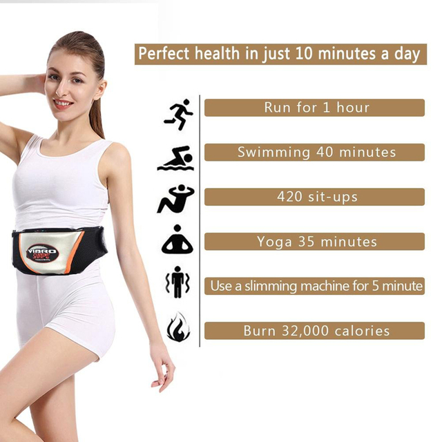 Waist Vibrating Massager, Electric Body Slimming Massager Belt Muscle Burning Fat Weight Losing Trimmer Health Care Tools 3