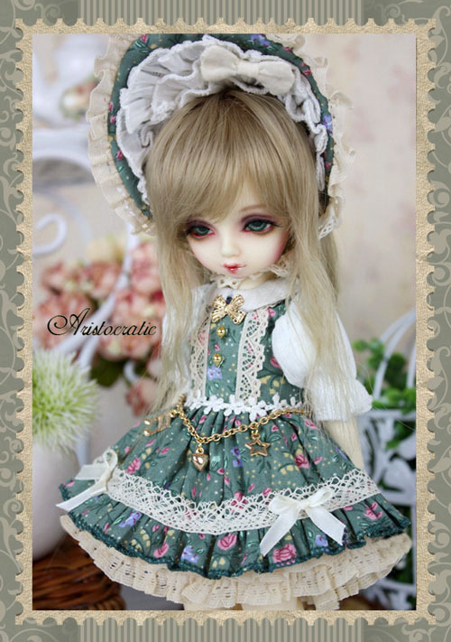 Tea Rose Dress Suit (6pcs) for BJD Doll 1/6 YOSD Doll Clothes LF48 sweetie chocolate mousse european retro outfit dress suit for bjd doll 1 6 yosd doll clothes lf9
