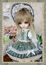 Tea Rose Dress Suit (6pcs) for BJD Doll 1/6 YOSD Doll Clothes LF48