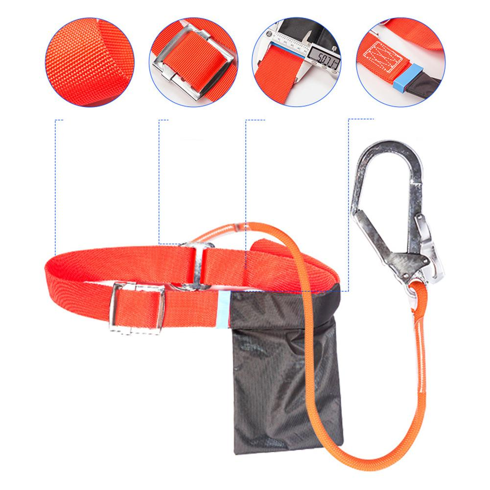 Adjustable Protection Safety Rope Lanyard Fall Protection Full Body Harness