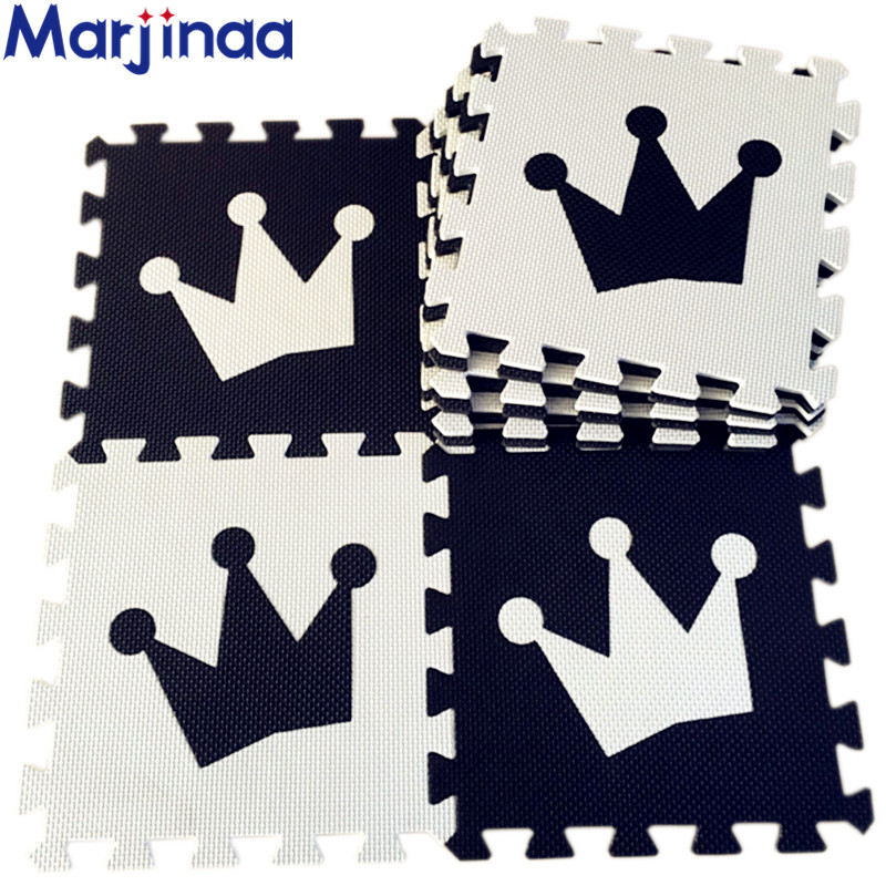 Marjinaa EVA 10pcs pack Baby And Children Play Floor Mat Environme numbers Mickey foam mat Black Marjinaa EVA 10pcs/pack Baby And Children Play Floor Mat Environme numbers/Mickey foam mat Black&White pad floor for baby games
