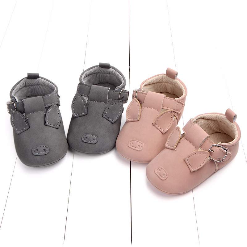 Baby First Walkers Matte leather Shoes for Baby Girl Boy Cartoon Animal Newborn Slippers Footwear Booties Kids Gift Child Shoes (19)