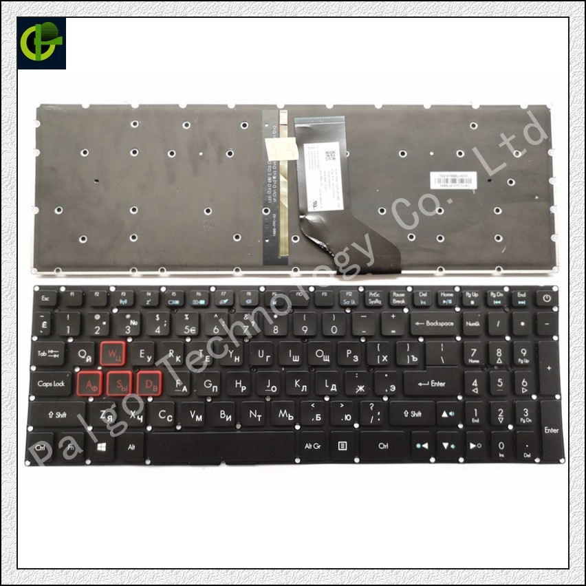 Russian Backlit keyboard for Acer Aspire VX5-591G VX15 VN7-593 G9-591G VN7-793G laptop RU black slim 19v 7 1a 135w laptop ac power adapter charger for acer aspire v15 nitro vn7 592 vn7 592g v5 591 v5 591g vx5 591g pa 1131 16