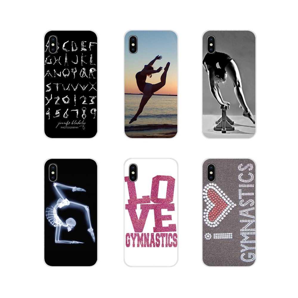 สำหรับ Apple iPhone X XR XS MAX 4 4 S 5 S 5C SE 6 6 S 7 8 plus ipod touch 5 6 Love ยิมนาสติกอุปกรณ์เสริมโทรศัพท์กรณีครอบคลุม