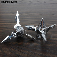 Chrome Motorcycle lSpun Blade Spinning Front Axle Nut Covers Axle Caps For Harley Sportster Dyna Softail Electra Glide Custom