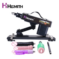 HISMITH автоматический автоматическая секс игрушка набор с черным большой дилдо и вагины чашки регулируемая скорость насосные пистолет секс и