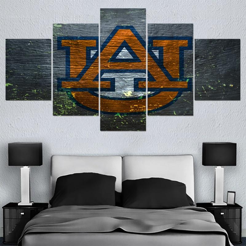 Sport Ball Team Auburn Tigers Logo Paintings Wall Art Home Decor ...
