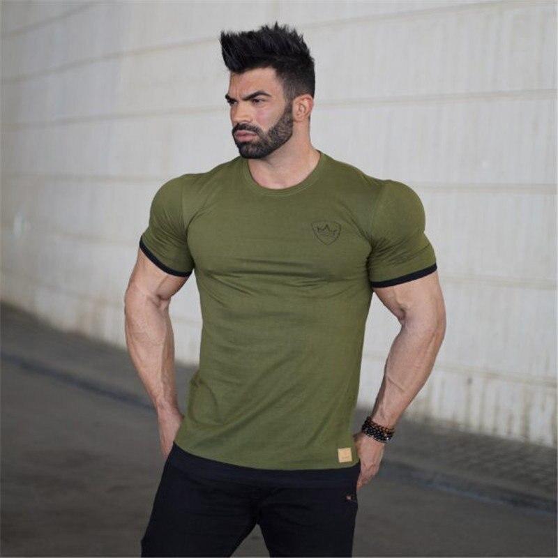 Fitness bodybuilding gyms t-shirt mens costume 5