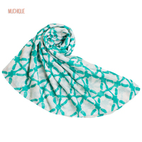 Muchique Charming Fashion Women Scarf White And Turquoise Scarves Infinity Oversized Wrap