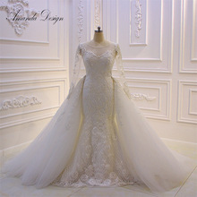 Amanda Chen Design Full Sleeve Mermaid Wedding Dress