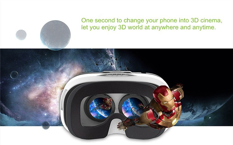 FIIT VR 3D Virtual Reality Video Helmet Cardboard 2.0 VR Glasses Box for 4.0-6.5 inch Smartphone Lightweight Ergonomic Design (1)