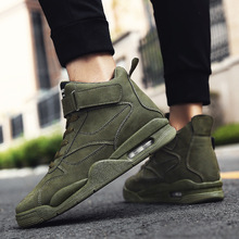 Men Casual Shoes Breathable Wear-resistant Shoes Comfortable Round Toe Lace-up sneakers Flat Shoes