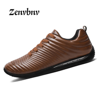 ZENVBNV 2017 New Luxury Brand Shoes Men Leather Mens Shoes Casual Oxford Winter Mens Shoes Top