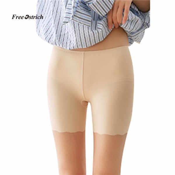 Gratis Struisvogel Kleding Vrouwen Leggingse Broek Casual Solid Stretchy Ondergoed Shorts Naadloze Veiligheid Nylon Hoge Taille Slipje mc23