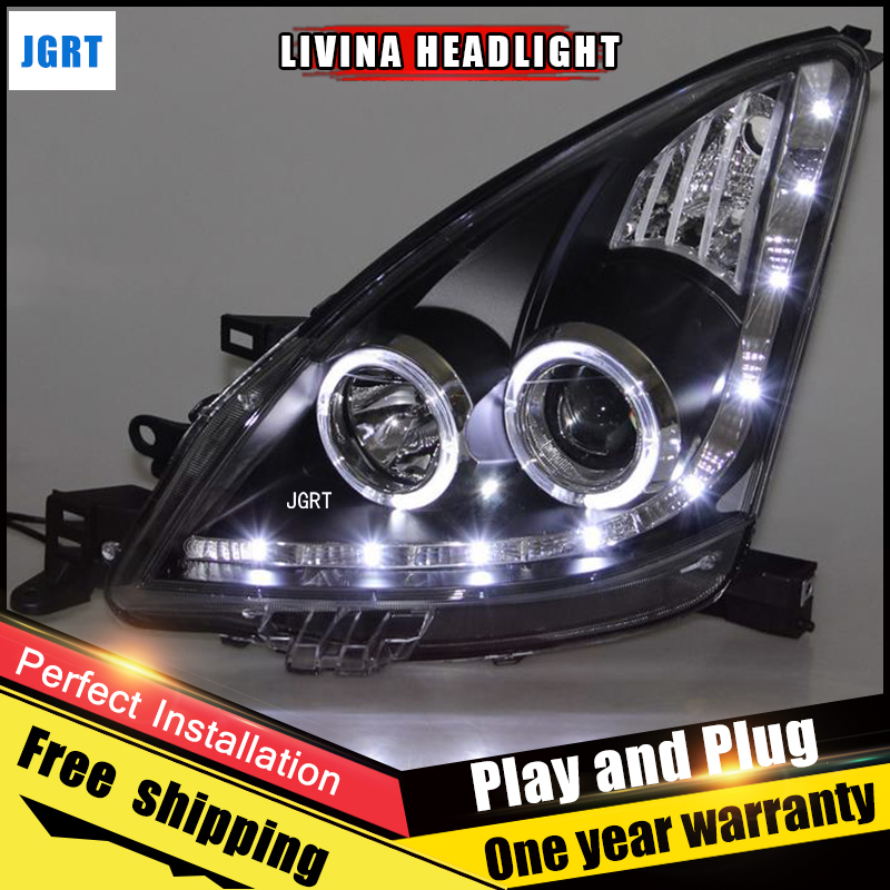 Car Style LED headlights for Nissan Livina 2008-2011 for Livina head lamp LED DRL Lens Double Beam H7 HID Xenon bi xenon lens auto clud style led head lamp for nissan teana 2013 2016 led headlights signal led drl hid bi xenon lens low beam