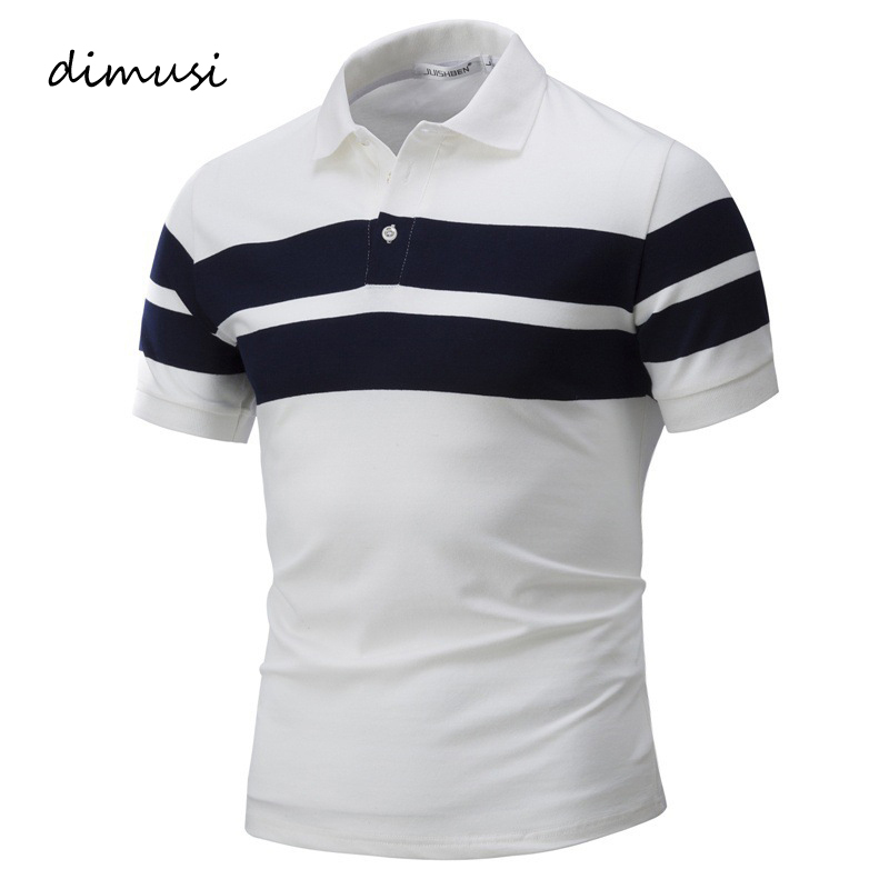 DIMUSI Mens   Polo   Shirts Summer Men Casual Short Sleeve Cotton Shirts Fashion   Polo   Tees Para Hombre Brand Clothing 4XL,YA797
