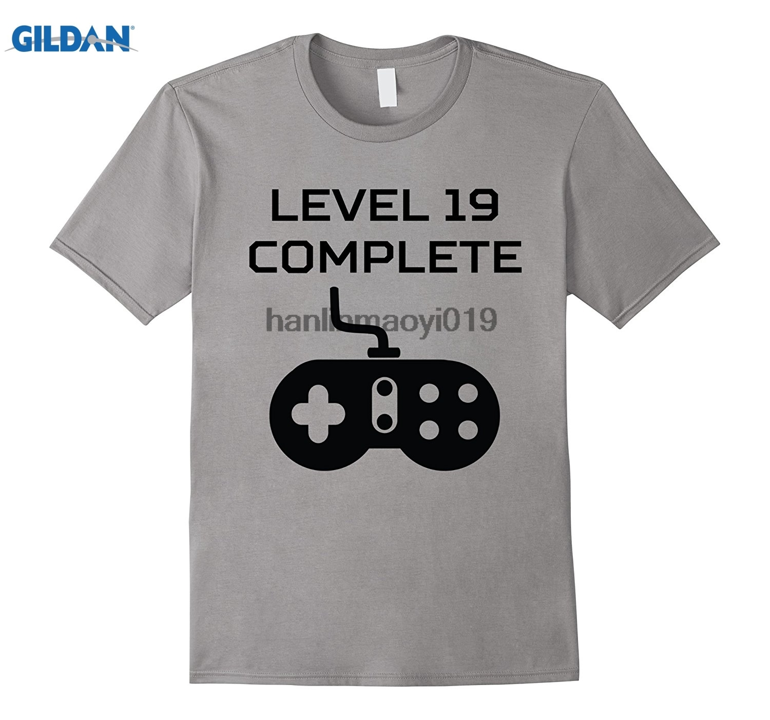 GILDAN Level 19 Complete Funny Video Games 19th Birthday T-Shirt