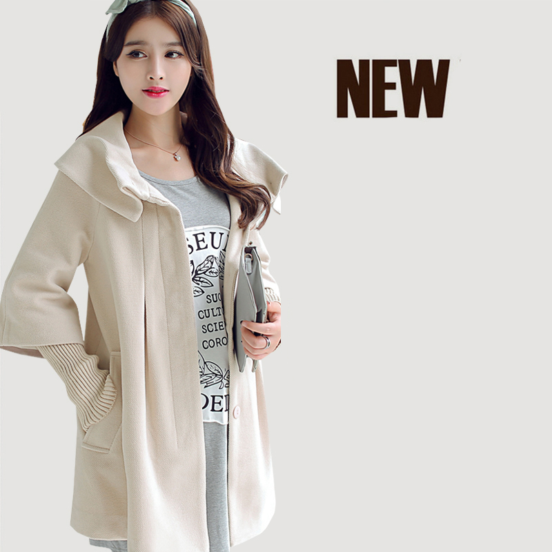 Pregnant women jacket 2018 maternity loose autumn and winter trench coat in the long fashion woolen coat maternity clothes new stely fashion loose pure color cloak jacket clothes for pregnant women coat