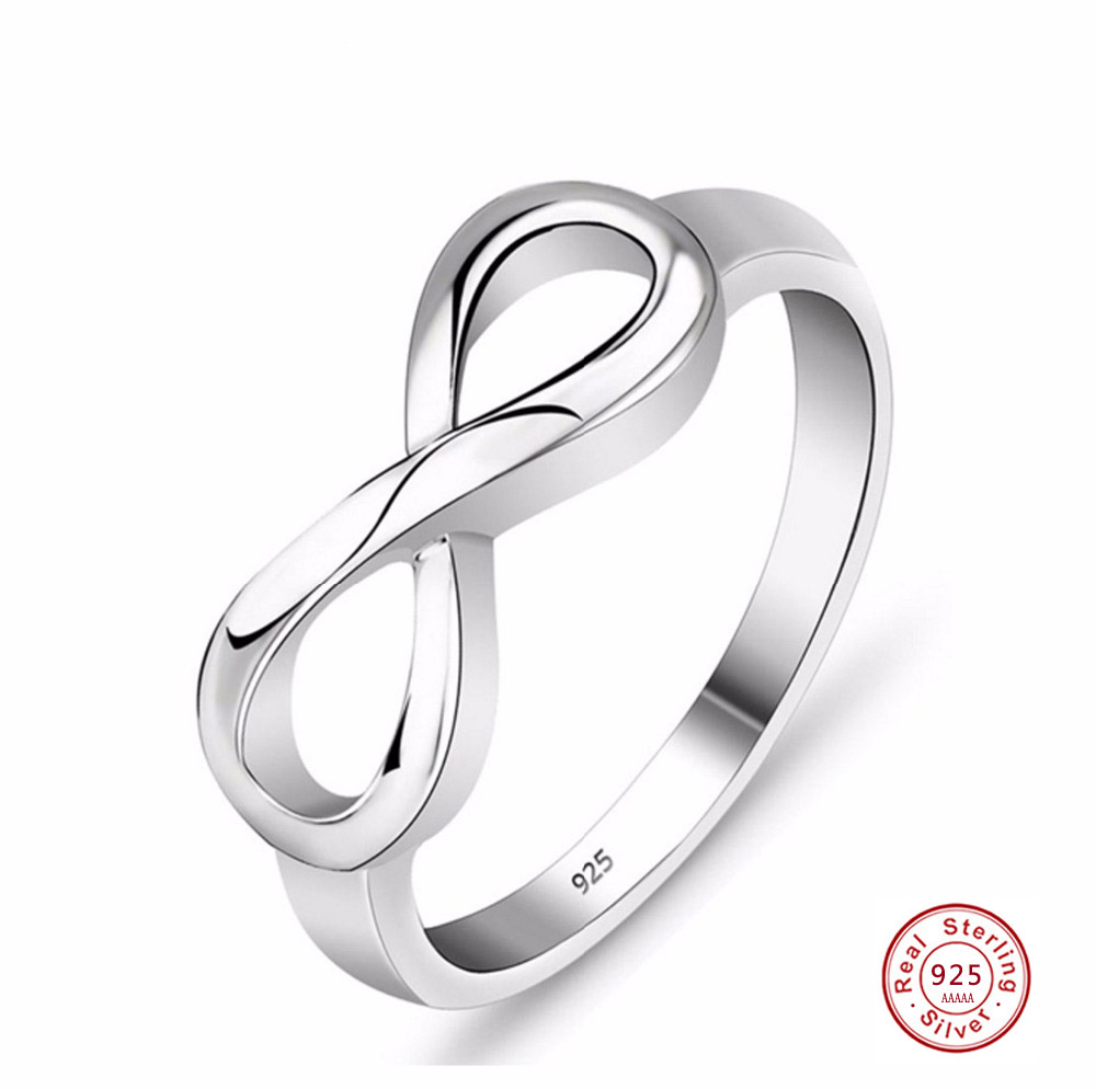 925 Sterling Silver Infinity Ring Eternity Ring Charms Best Friend Gift Endless
