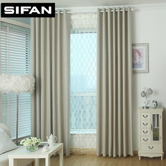 Cor s lida pequena pra a plain linho cortinas de janela de for Cortinas para sala pequena
