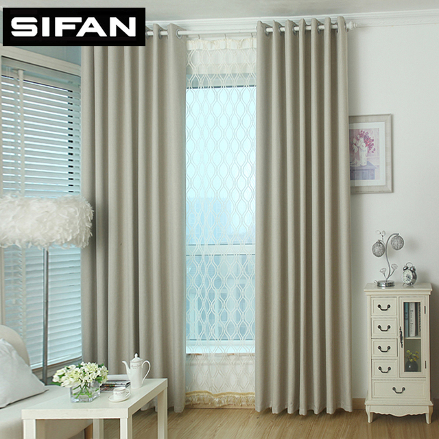 effen kleur kleine vierkante vlakte linnen verduisteringsgordijn voor woonkamer raam moderne stijl gordijnen custom made