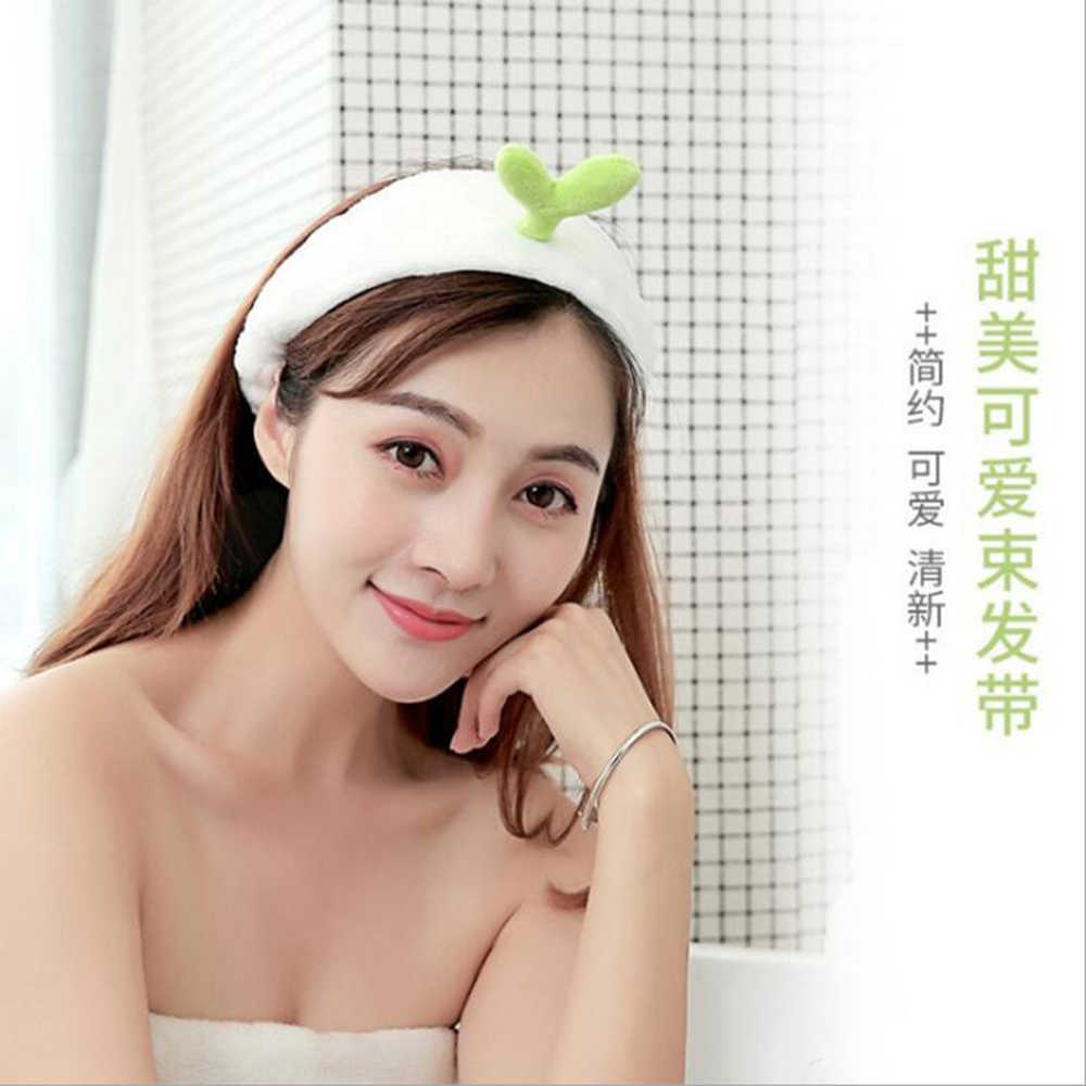 Detail Feedback Questions about TWDVS 2018 Women Washing Face Make up  Headbands Bean Sprout Cactus Shape Elastic Hair Band Sweet Wide Side Girls  Hair ... a70c3851505