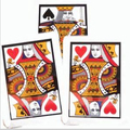 three Card Monte(Q, K),size 30*45cm - Magic trick,magic accessories, prop,close up magic,comedy magic