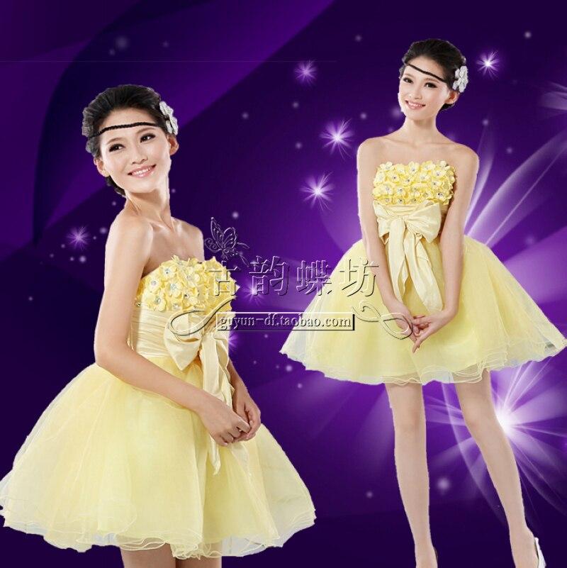 Moderno La Dama De Honor Vestido Amarillo Ideas Ornamento ...