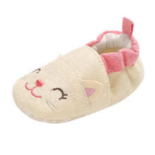 Winter Sweet Newborn Baby Shoes Girl Soft warm Booties Snow Cartoon Animal Floor Shoes Prewalker Warm Shoes dropshipping(China)